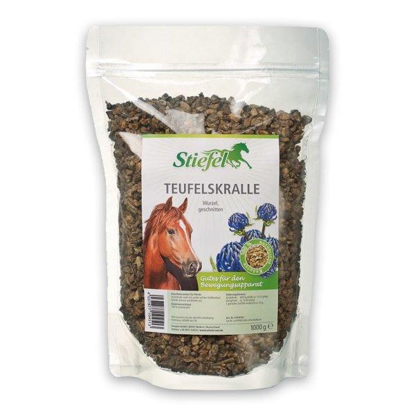 Stiefel Teufelskralle geschnitten - Zusatzfuttermittel für Pferde 1 kg